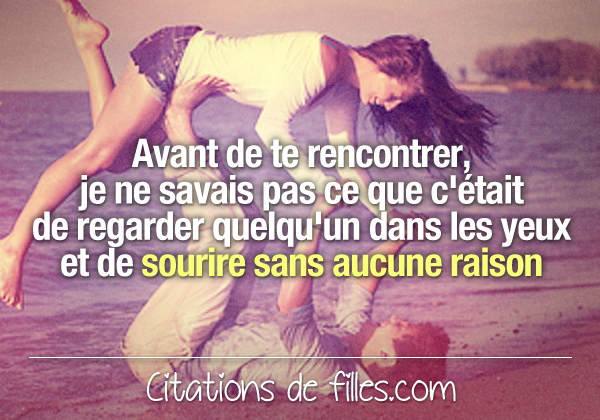 Rencontre d'amour citation