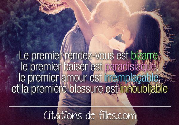 Premiere rencontre amoureuse citation